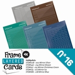 Stickerset LCST016 voor Layered frame cards 16/- 4kant