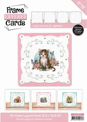 Linnen Layered Frame Cards LC4K10017/- 4kant