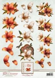 3D Knipvel Ann's Paper Art APA3D018 Autumn Lilies