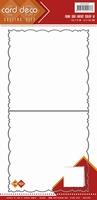 Card Deco Cutting Dies CDCD10001 Fantasy Scallop 4-kant