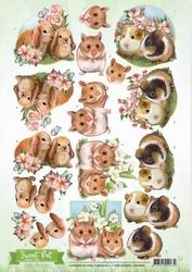 3D Knipvel Amy Design CD10959 Sweet Pet Rodents/knaagdieren