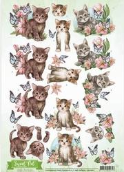 3D Knipvel Amy Design CD10961 Sweet Pet Cats/katten