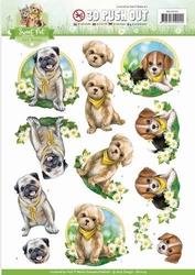 3D Stansvel Amy Design SB10195 Sweet Pet Dogs/honden