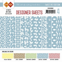 Card Deco Designer Sheets CDDSMG004 Sweet Pet Zachtblauw