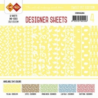 Card Deco Designer Sheets CDDSMG004 Sweet Pet Geel