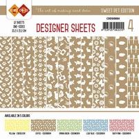 Card Deco Designer Sheets CDDSMG004 Sweet Pet Koffiebruin