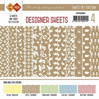 Card Deco Designer Sheets CDDSMG004 Sweet Pet Koffiebruin