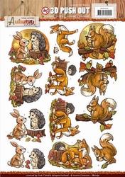 3D Stansvel Yvonne SB10191 Autumn Colors Animals