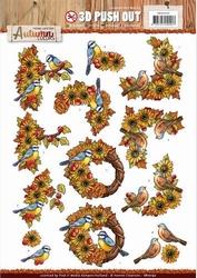 3D Stansvel Yvonne SB10192 Autumn Colors Birds/vogels