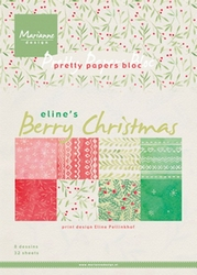MD Pretty Papers bloc PB7053 Eline's Berry Christmas