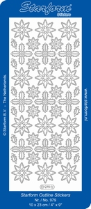 Kerststicker Starform  979 Kerstroos