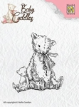 Nellie`s Choice Clearstamp CSBC004 Baby Cuddles Teddybears