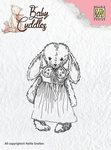 Nellie`s Choice Clearstamp CSBC002 Baby Cuddles Cuddly girl