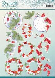 A4 Knipvel Jeanines Art CD10970 Winter Classics Winterberrie