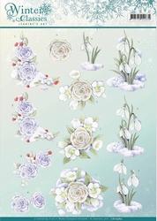 A4 Knipvel Jeanines Art CD10969 Winter Classics Snow flowers