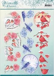 A4 Knipvel Jeanines Art CD10968 Winter Classics Birds