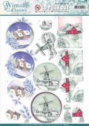 A4 Pushout Jeanines Art SB10201 Winter Classics Landscapes