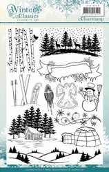 Clearstamp Jeanines Art JACS10007 Winter Classics Afbeelding