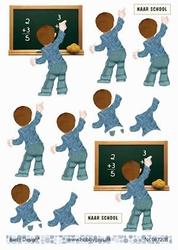 A4 Knipvel Barto Design 67208 Jongen naar school