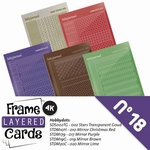 Stickerset LCST018 voor Layered frame cards 18/- 4kant