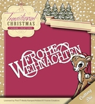 Yvonne's Die YCD10058 Traditional Christmas Frohe Weihnachte