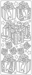 Kerst stickervel Peel-off 1724 Pakjes