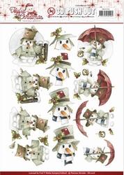 3D Stansvel Marieke Joyful Christmas SB10206 Snowman