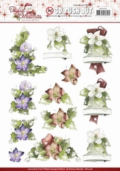 3D Stansvel Marieke Joyful Christmas SB10208 Christmas Rose