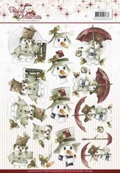 3D Knipvel Marieke Joyful Christmas CD10942 Snowman