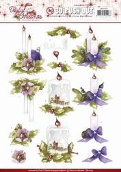 3D Stansvel Marieke Joyful Christmas SB10205 Christmas candl