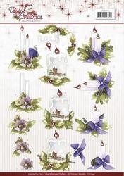 3D Knipvel Marieke Joyful Christmas CD10941 Christmas candle
