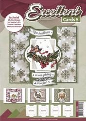 Excellent Cards 5 EXCC05 Fijne feestdagen en een gelukkig