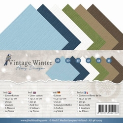 Amy Design Linnenkarton AD-4K-10013 Vintage Winter