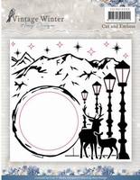 Cut and Emboss folder Amy Design ADEMB10008 Vintage Winter