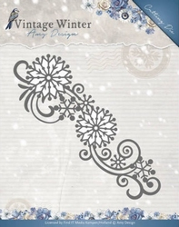 Amy Design Die ADD10123 Vintage Winter Snowflake Swirl Borde