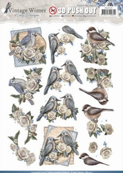3D Stansvel Amy SB10215 Vintage Winter Birds
