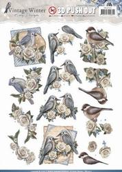 3D Stansvel Amy SB10215 Vintage Winter Birds