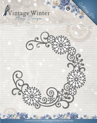 Amy Design Die ADD10122 Vintage Winter Snowflake Swirl Round
