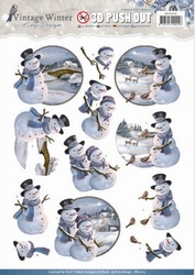 3D Stansvel Amy SB10214 Vintage Winter Snowman