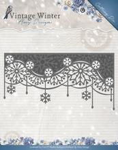 Amy Design Die ADD10125 Vintage Winter Snowflake Swirl Edge