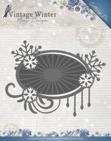 Amy Design Die ADD10124 Vintage Winter Snowflake Swirl Label