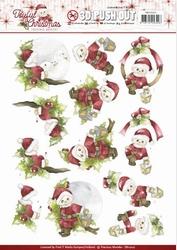 3D Stansvel Marieke Joyful Christmas SB10207 Santa on branch