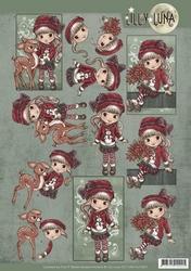 Yvonne Lilly Luna 3D Knipvel CD11004-HJ15201 Christmas Wishe