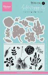 MD Clear Stamp Karin Joan KJ1715 Giftwrapping Twigs & twine