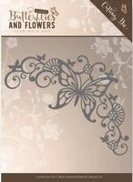 Die Jeanines Art JAD10023 Classic Butterflies and Flowers