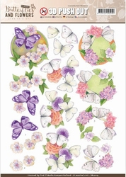 A4 Pushout Jeanine SB10219 Classic Butterflies and Flowers
