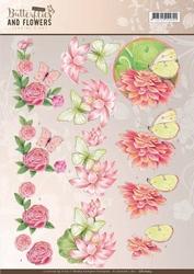 A4 Knipvel Jeanine CD11003 Classic Butterflies and Flowers