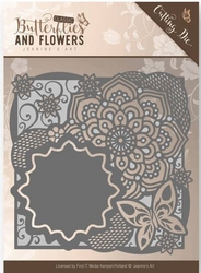 Die Jeanines Art JAD10019 Classic Butterflies and Flowers