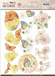 A4 Pushout Jeanine SB10218 Classic Butterflies and Flowers