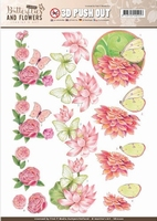 A4 Pushout Jeanine SB10220 Classic Butterflies and Flowers